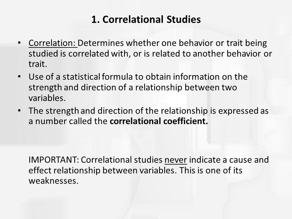 1. Correlational Studies