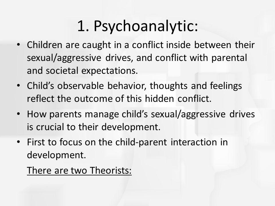 1. Psychoanalytic: