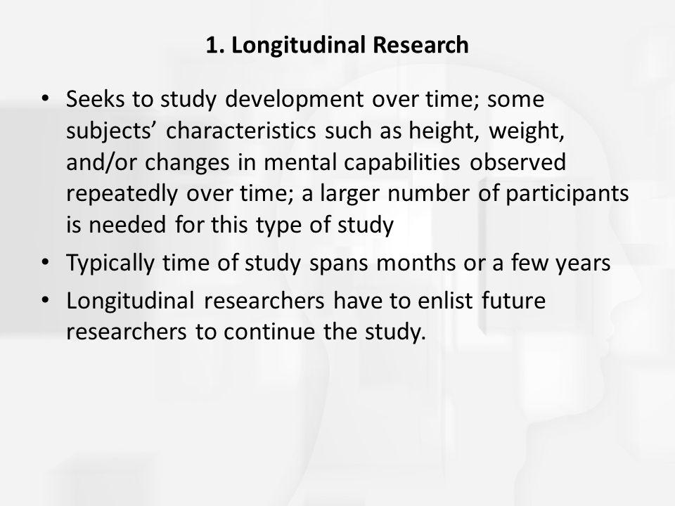 1. Longitudinal Research