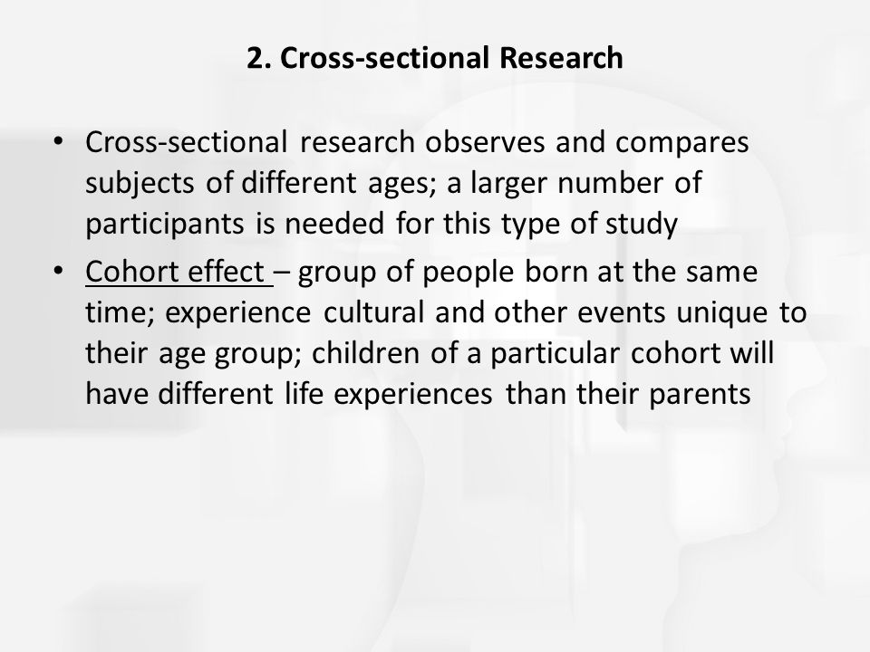 2. Cross-sectional Research
