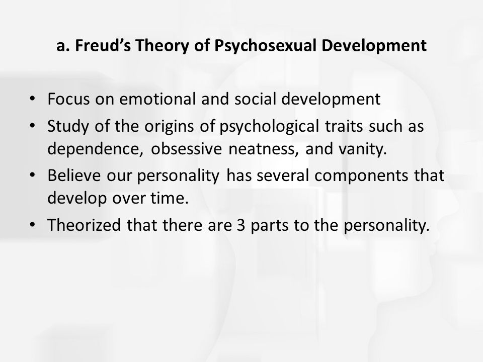 a. Freud's Theory of Psychosexual Development