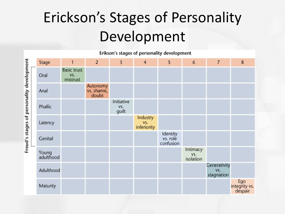 Erickson's Stages of Personality Development