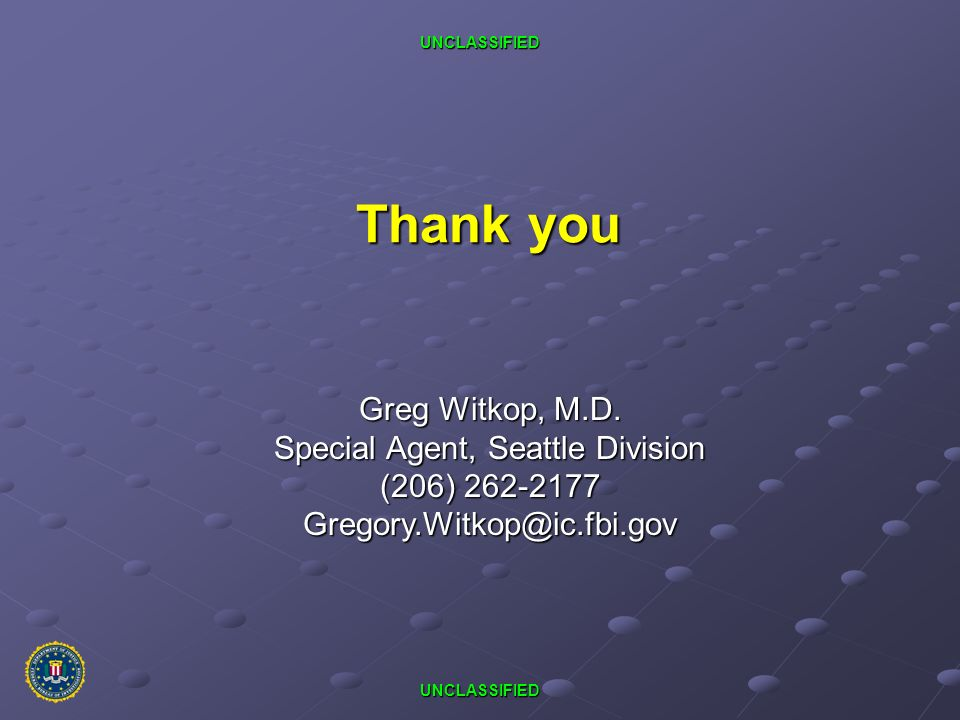 Special Agent, Seattle Division