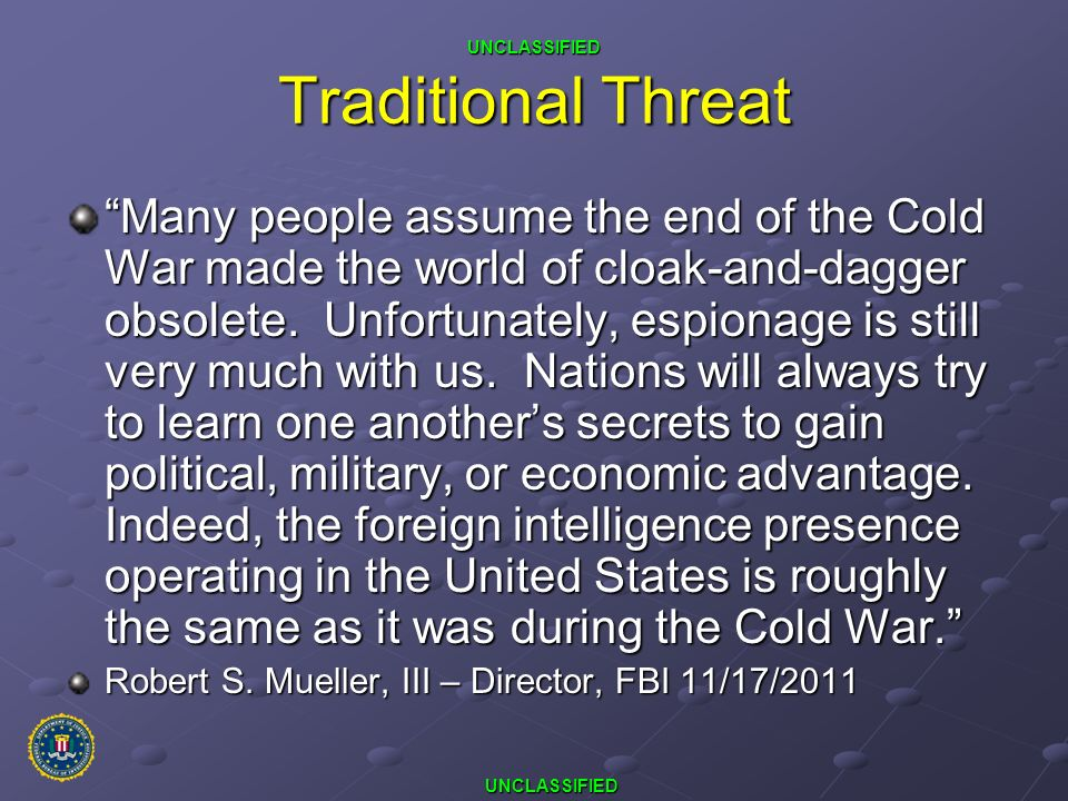 Traditional Threat