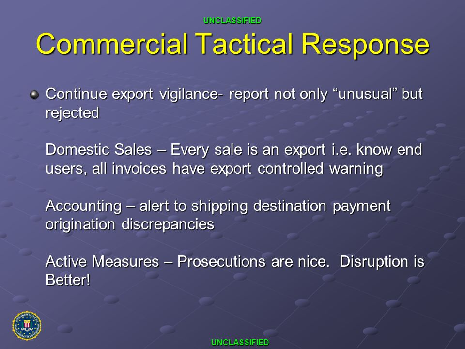 Commercial Tactical Response