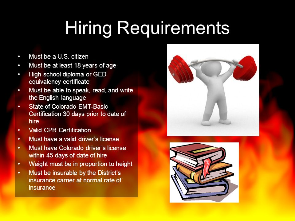 Hiring Requirements Must be a U.S. citizen