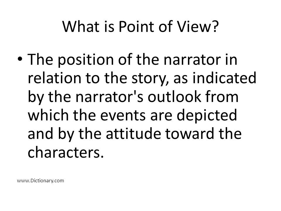 What is Point of View