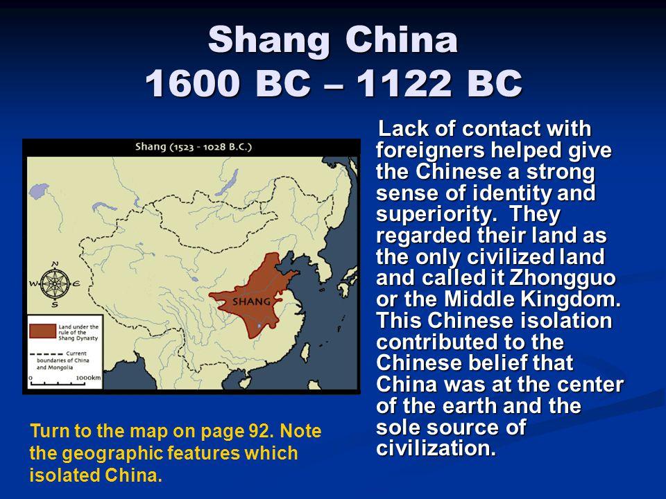 Shang China 1600 BC – 1122 BC