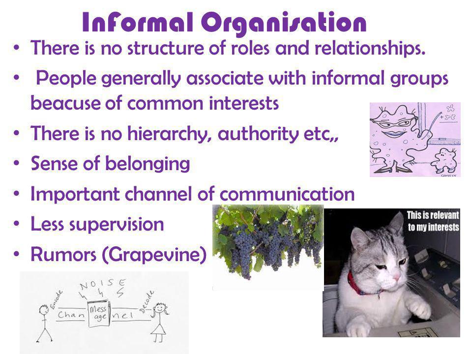 InFormal Organisation