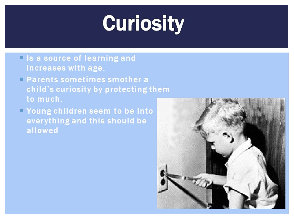 Curiosity Is a source of learning and increases with age.