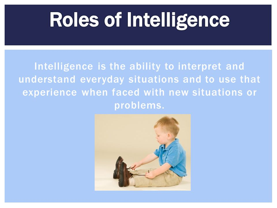 Roles of Intelligence