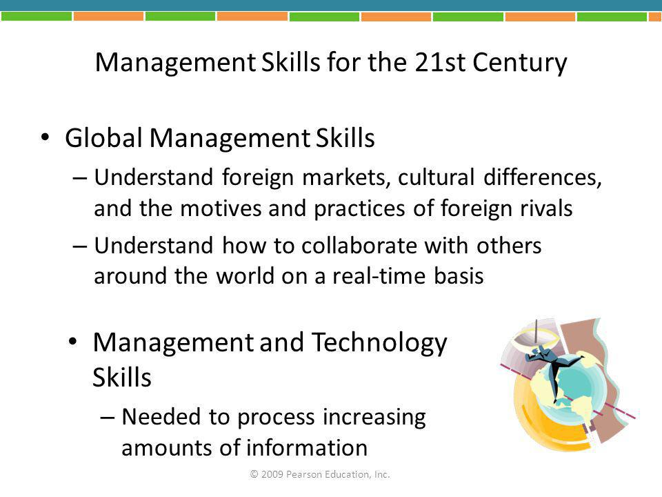 Management Skills for the 21st Century
