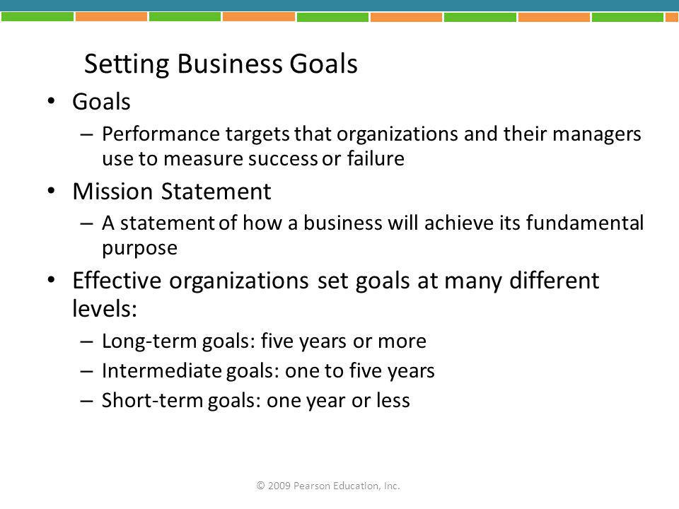 Setting Business Goals