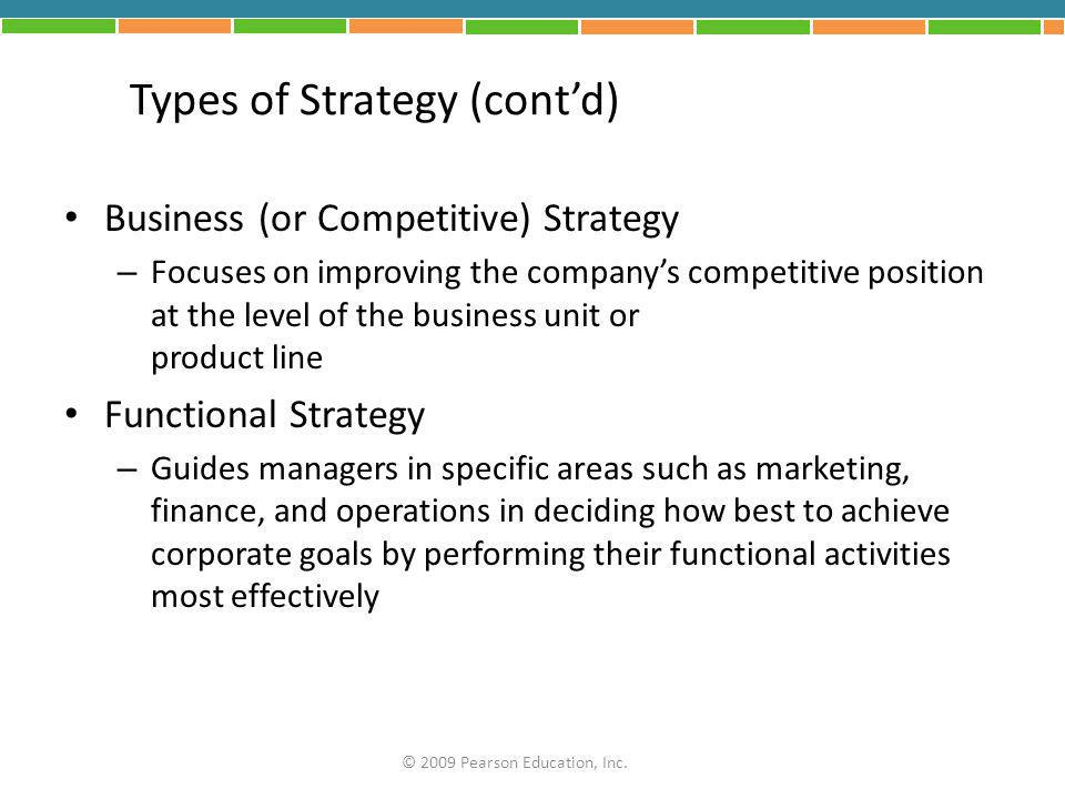 Types of Strategy (cont'd)
