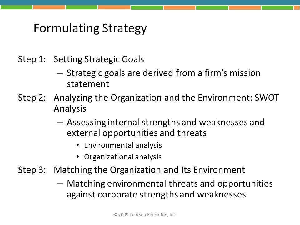 Formulating Strategy Step 1: Setting Strategic Goals