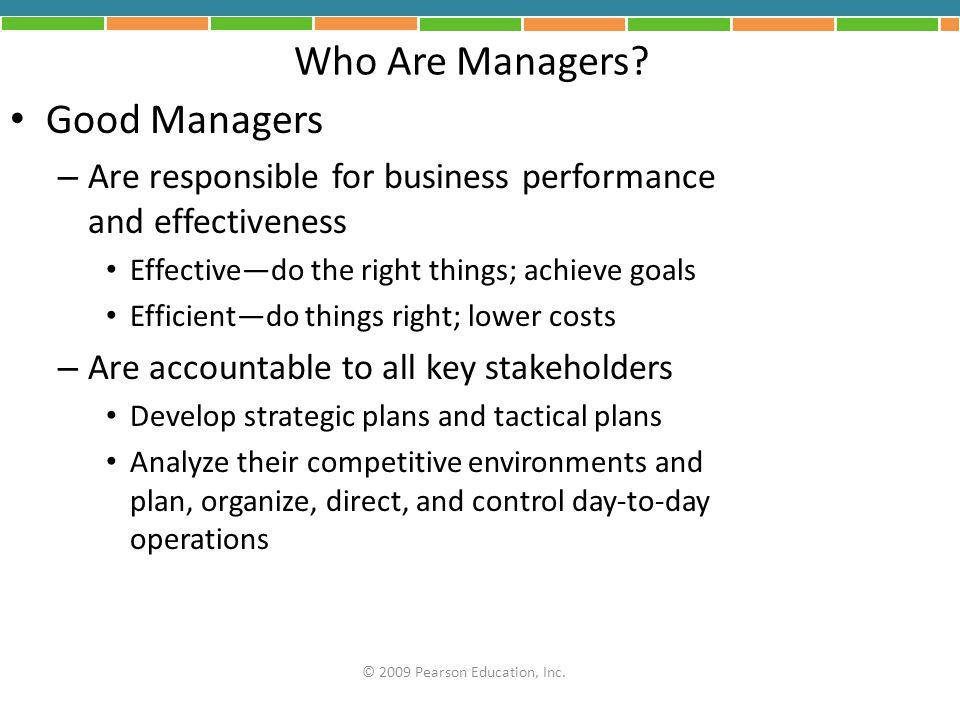 Who Are Managers Good Managers