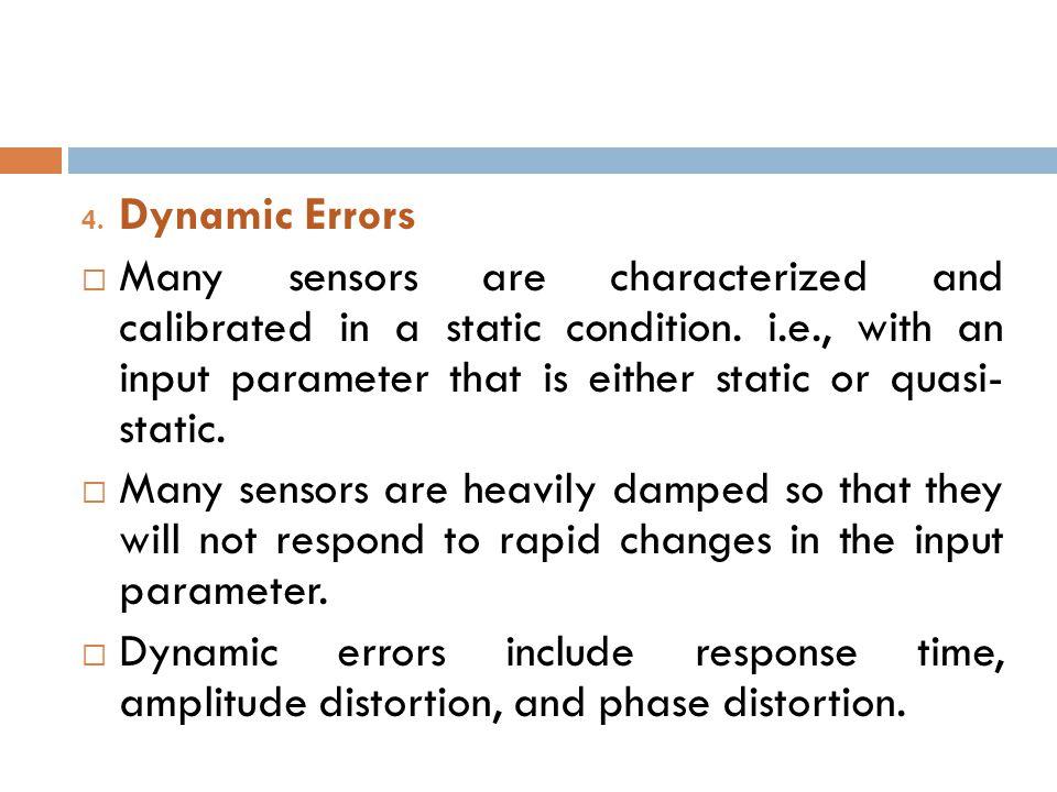Dynamic Errors