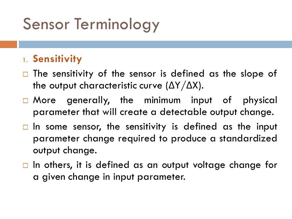 Sensor Terminology Sensitivity