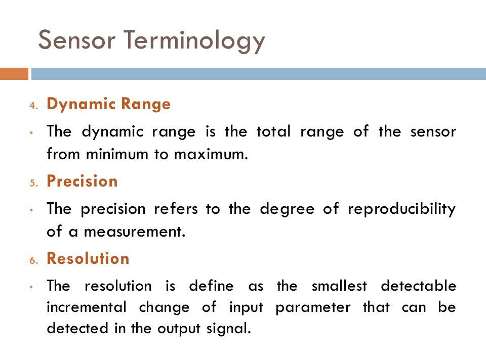 Sensor Terminology Dynamic Range