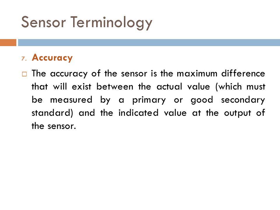 Sensor Terminology Accuracy