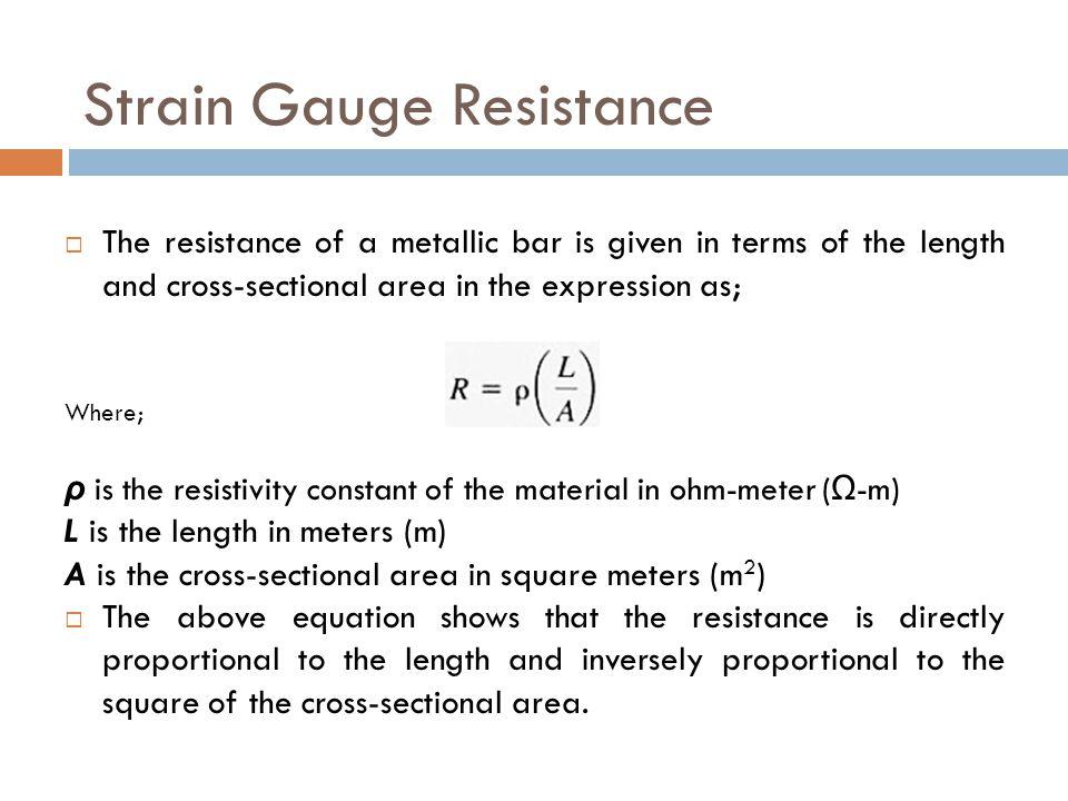 Strain Gauge Resistance