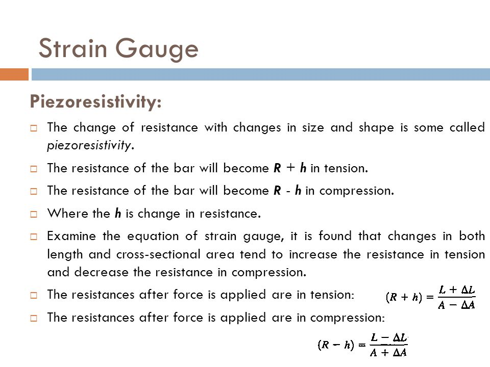 Strain Gauge Piezoresistivity: