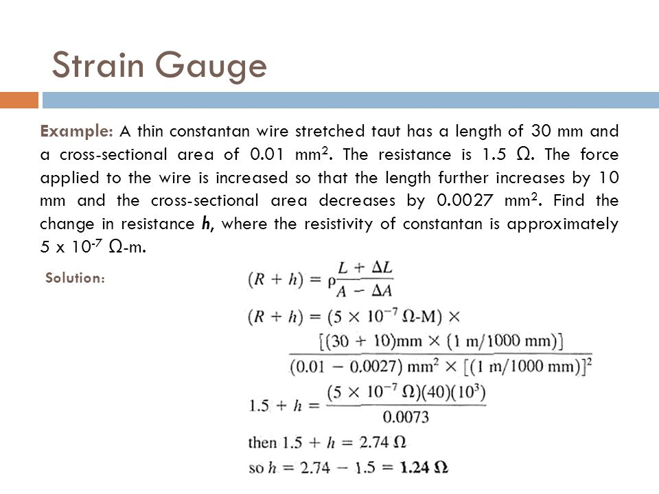 Strain Gauge Solution: