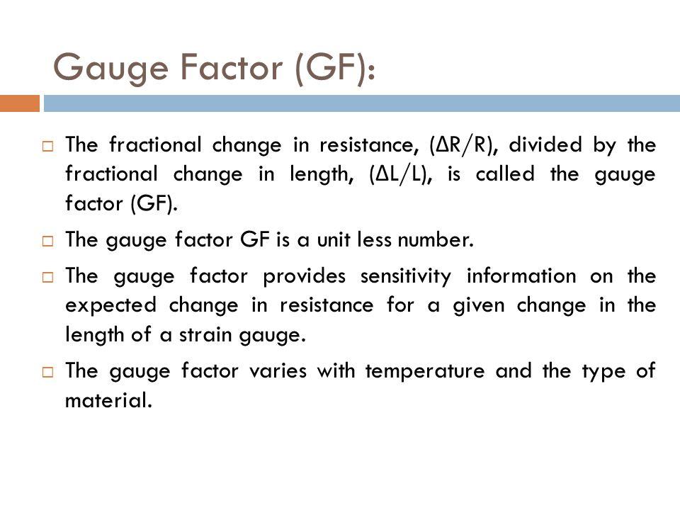 Gauge Factor (GF):