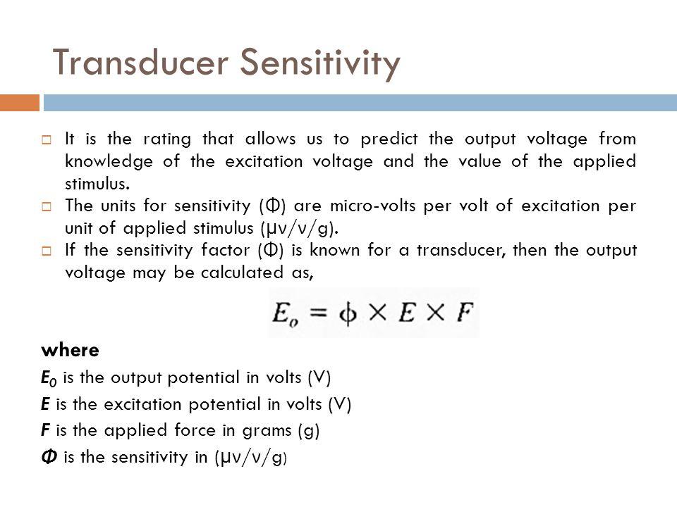 Transducer Sensitivity