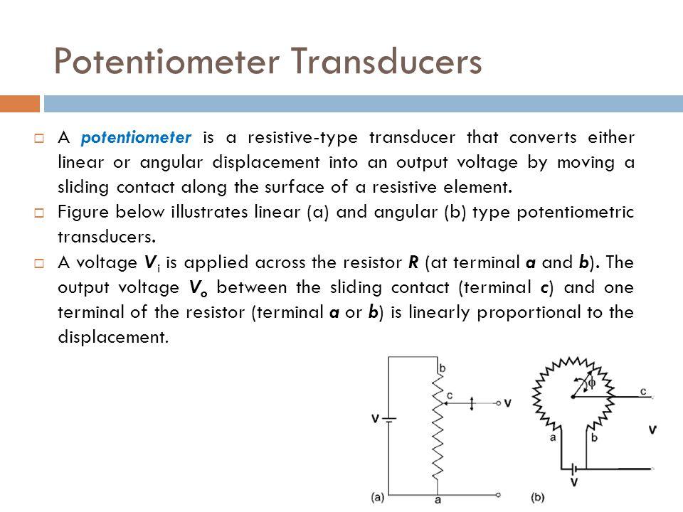 Potentiometer Transducers