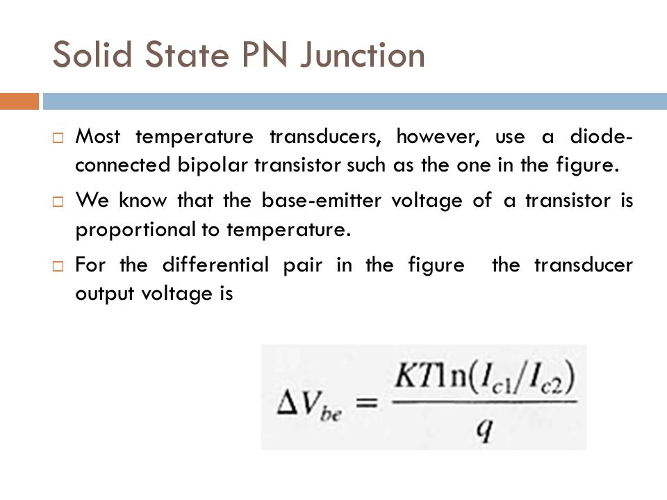 Solid State PN Junction