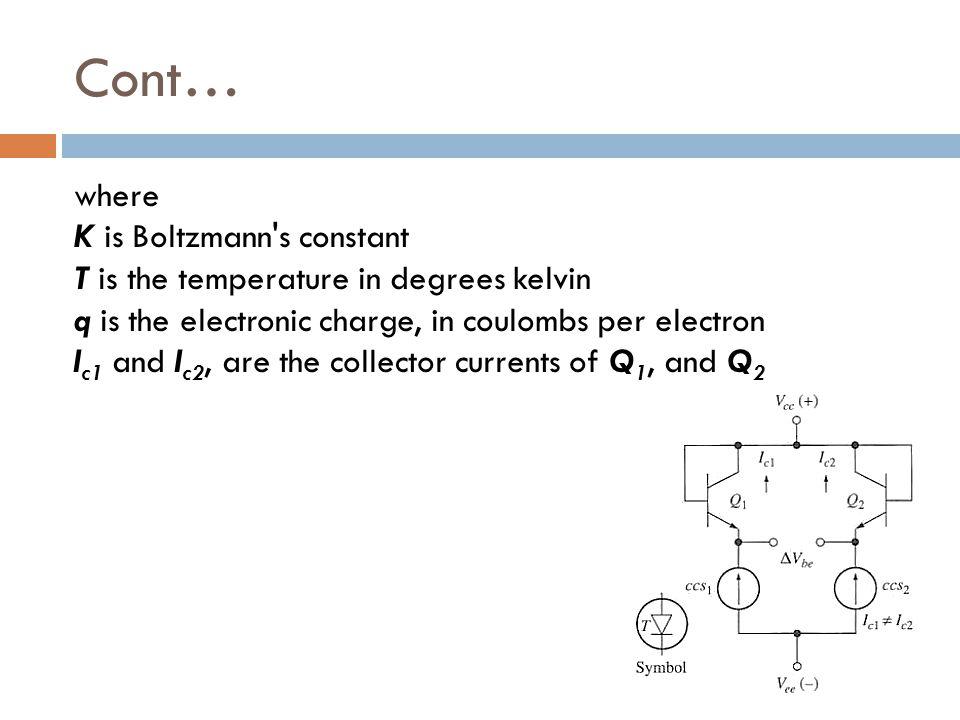 Cont… where K is Boltzmann s constant