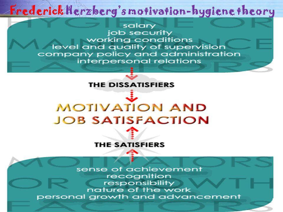 Frederick Herzberg's motivation-hygiene theory