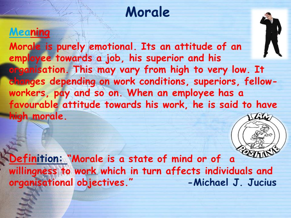 Morale Meaning.