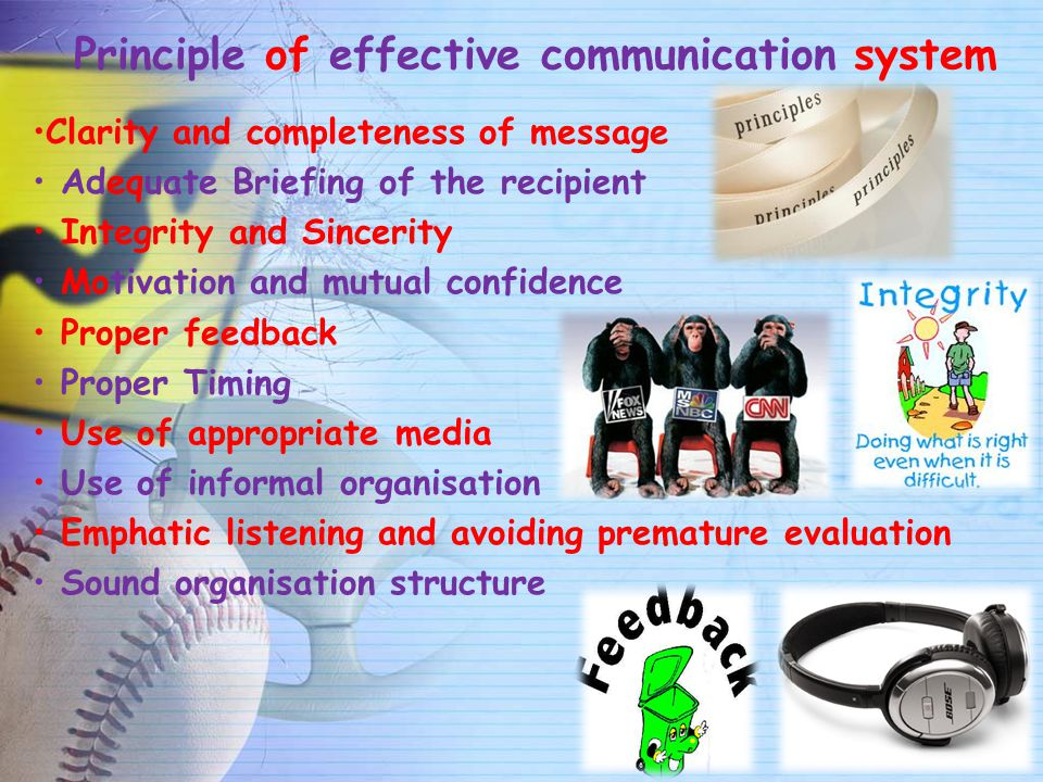 Principle of effective communication system