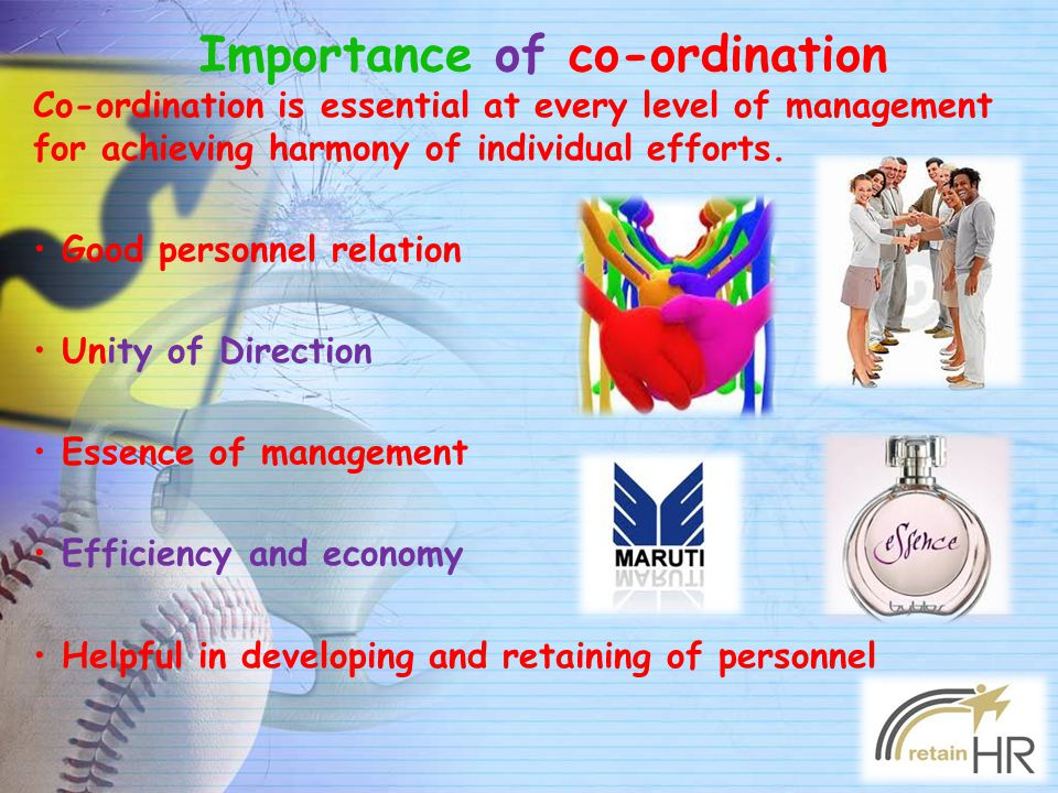 Importance of co-ordination