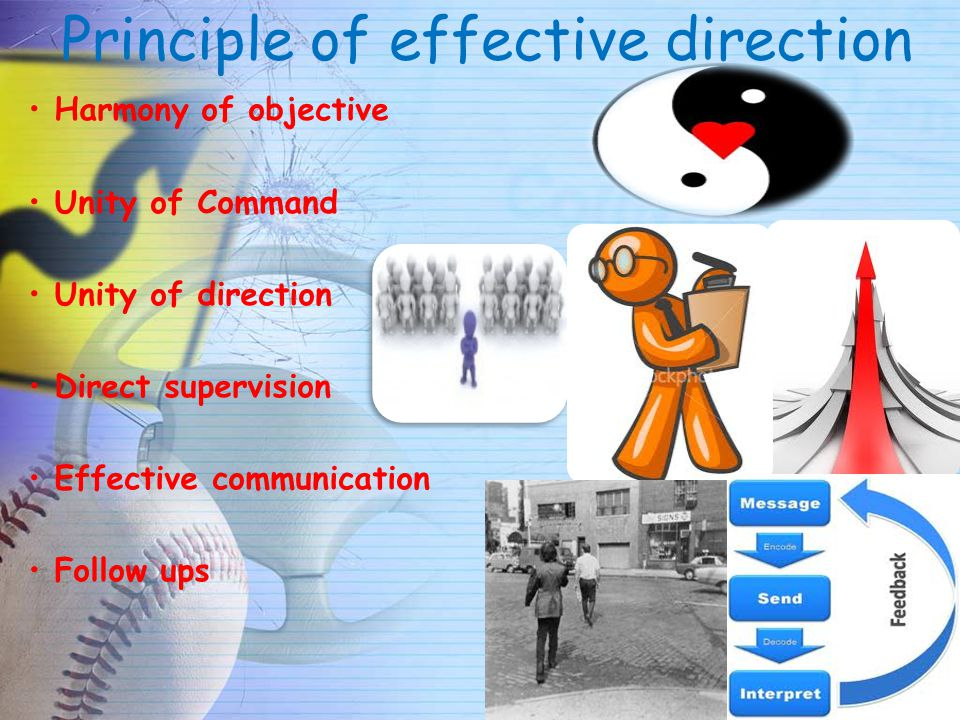 Principle of effective direction