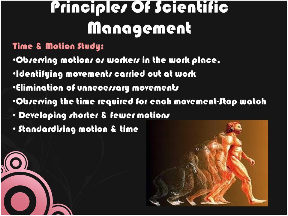 Principles Of Scientific Management