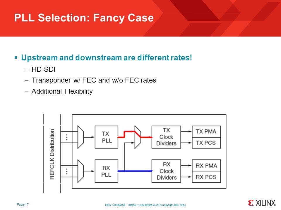 PLL Selection: Fancy Case
