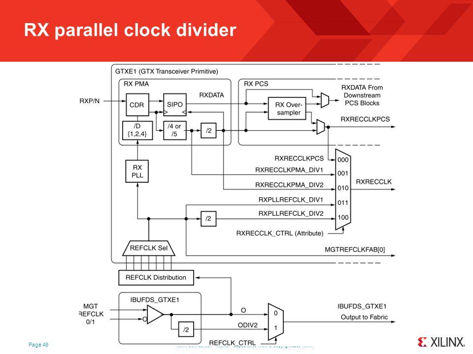 RX parallel clock divider