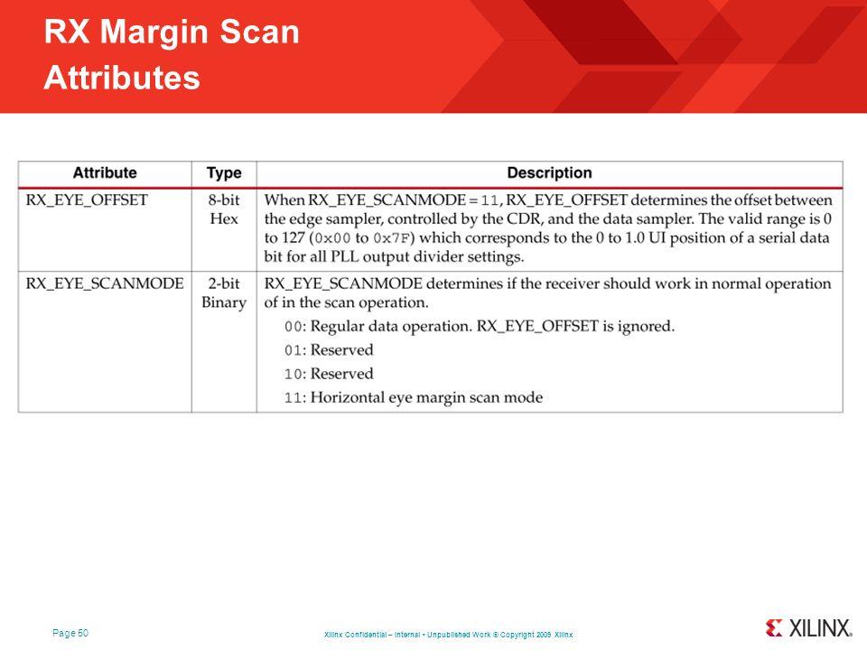 RX Margin Scan Attributes
