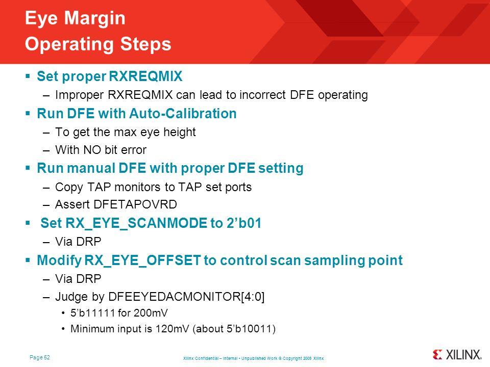 Eye Margin Operating Steps