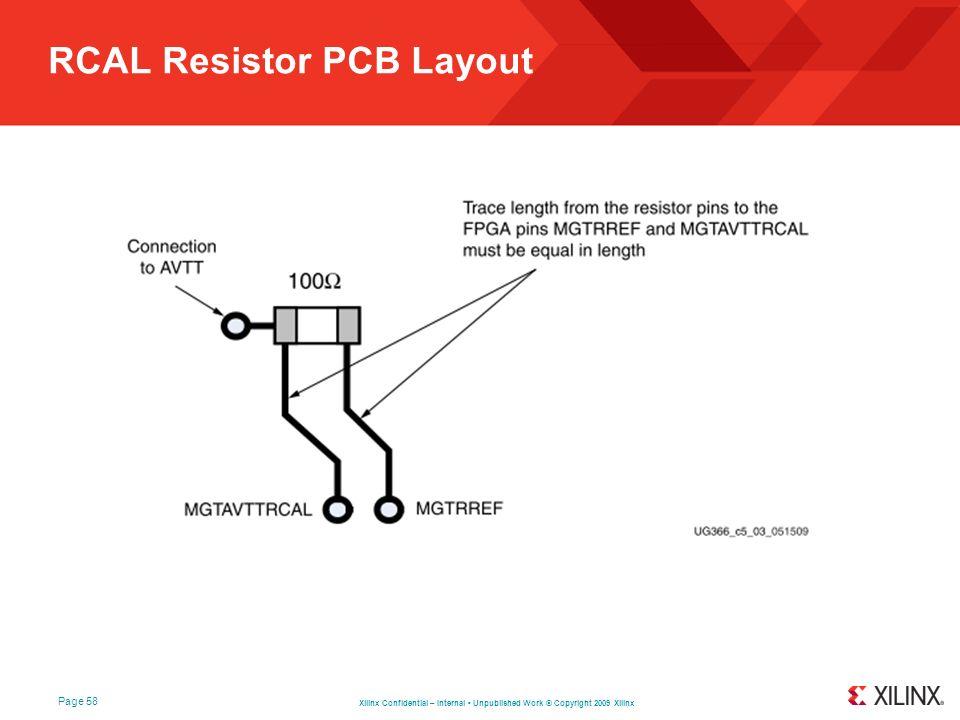 RCAL Resistor PCB Layout