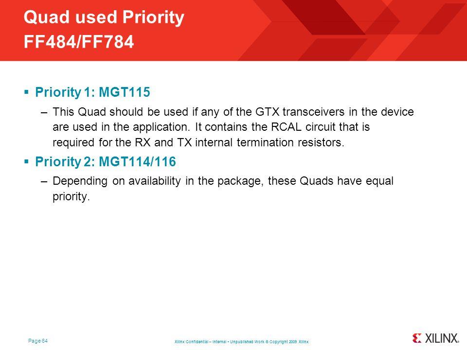 Quad used Priority FF484/FF784
