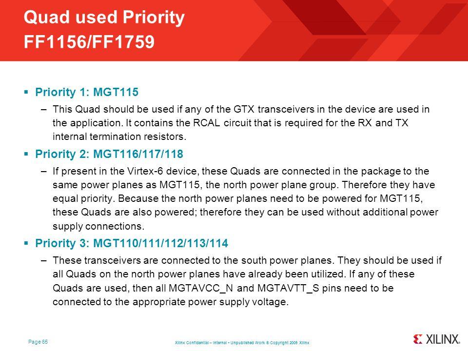 Quad used Priority FF1156/FF1759