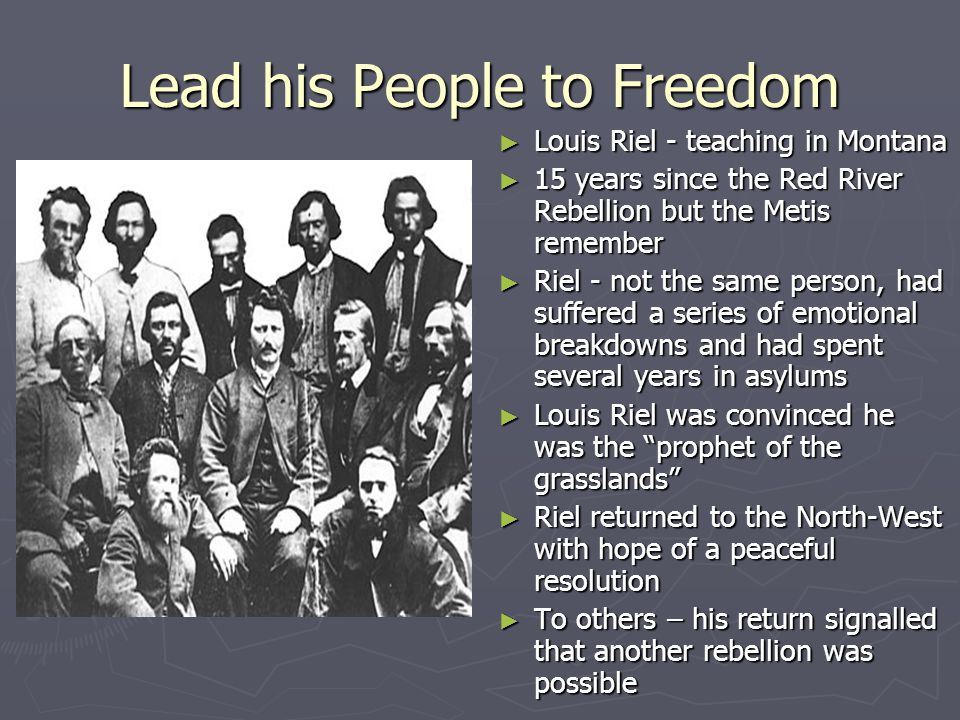 Lead his People to Freedom
