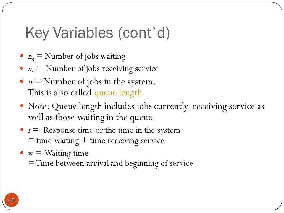 Key Variables (cont'd)