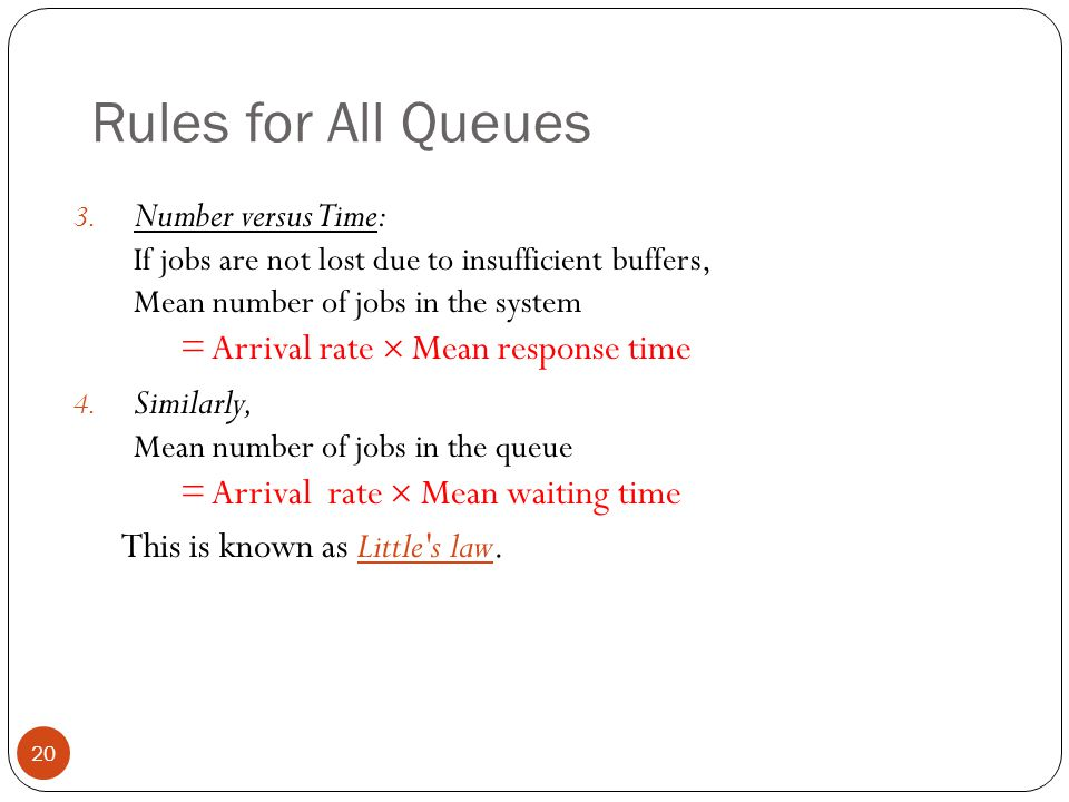 Rules for All Queues
