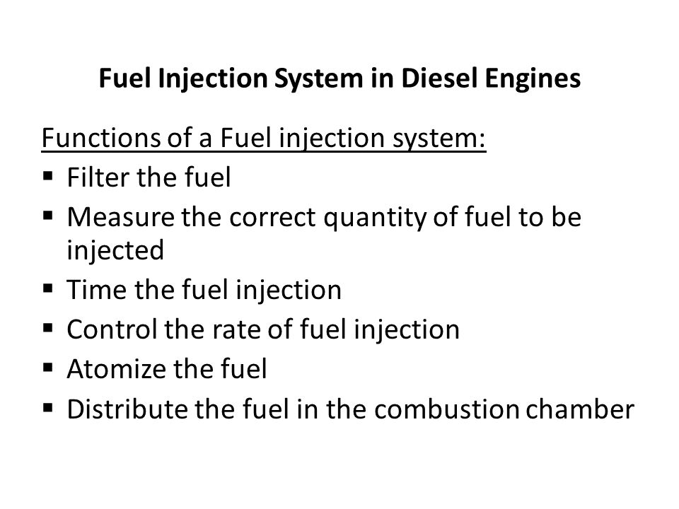 Fuel Injection System in Diesel Engines