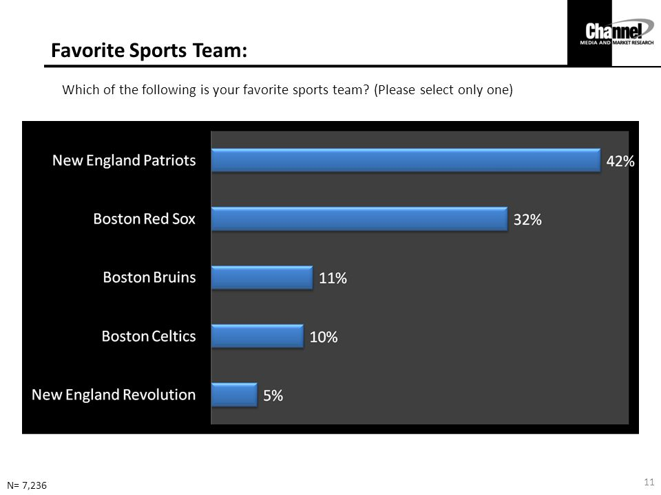 Favorite Sports Team: Which of the following is your favorite sports team (Please select only one)